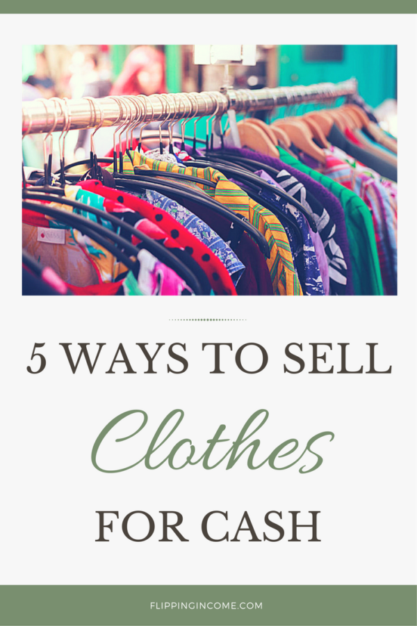 5 ways to sell clothes for flipping income