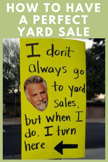 how to have a perfect yard sale