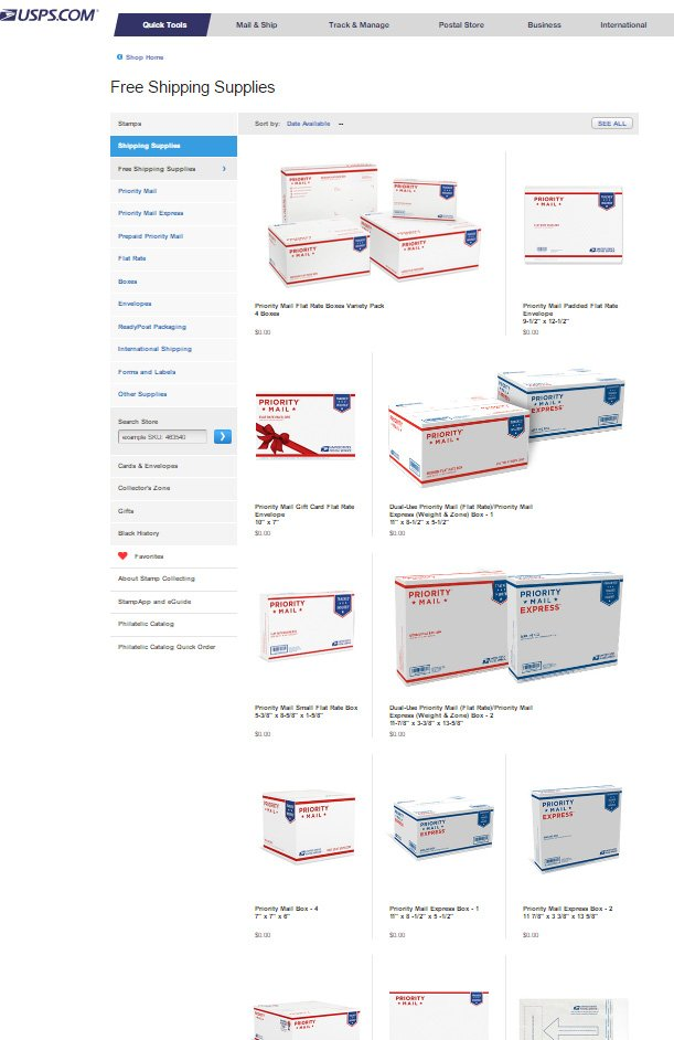 usps free shipping supplies