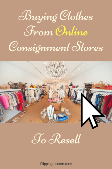 Buying Clothes From Online Consignment Stores to Resell