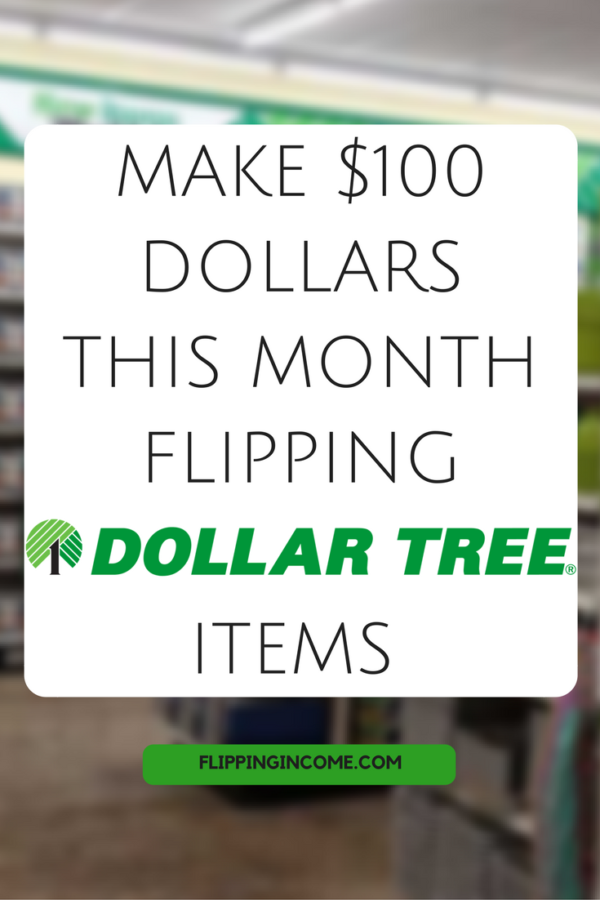 Make $100 dollars this month flipping dollar tree items