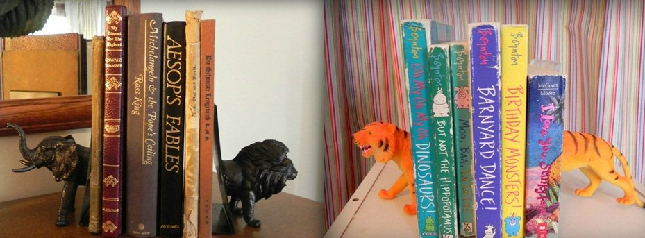 DIY Dollar Store Decor - Bookends